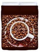 Cup Of Raw Coffee Duvet Cover