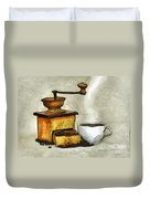 Cup Of The Hot Black Coffee Duvet Cover