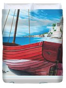 Cupecoy Beach Poster Duvet Cover