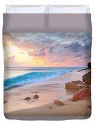 Cupecoy Beach Sunset Saint Maarten Duvet Cover