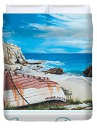 Cupecoy Dream Poster Duvet Cover