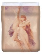 Cupid And Psyche Duvet Cover by William Adolphe Bouguereau