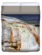 Cupid Spring At Mammoth Hot Springs Duvet Cover
