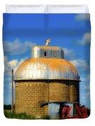 Cupola Grain Silo - Iowa Duvet Cover