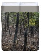 Curacao - Blooming Cacti In The Forest Duvet Cover