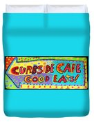 Curbside Cafe Duvet Cover