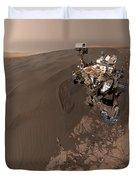 Curiosity Rover Self-portrait Duvet Cover