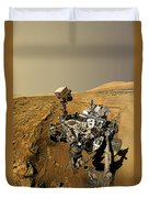 Curiosity Self-portrait At Windjana Drilling Site Duvet Cover