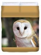 Curious Barn Owl Duvet Cover