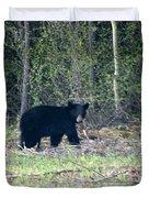 Curious Black Bear  Duvet Cover