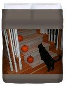 Curious Black Cat Duvet Cover