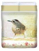 Curious Catbird Duvet Cover