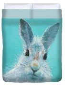 Curious Grey Rabbit Duvet Cover