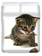 Curious  Kitten Duvet Cover
