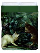 Curious Kittens Duvet Cover