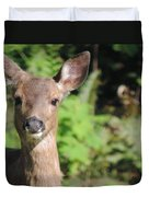 Curious Little Deer Duvet Cover