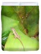 Curious Lizard I Duvet Cover