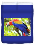 Curious Macaw Duvet Cover