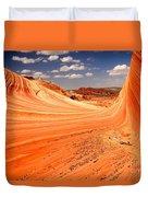 Curling Sandstone Waves Duvet Cover
