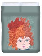 Curly Red Hair Duvet Cover