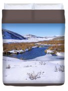 Currant Creek On Ice Duvet Cover