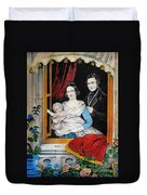 Currier: Marriage, 1848 Duvet Cover