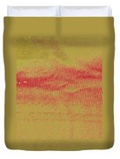 Curtain Abstract As Landscape 2 Duvet Cover