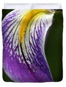 Curve Of An Iris Duvet Cover
