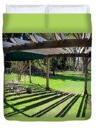 Curved Arbor  Duvet Cover