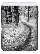 Curving Path Through Woods Duvet Cover