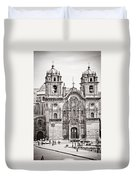 Cusco Cathedral Duvet Cover by Darcy Michaelchuk