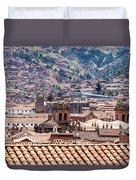 Cusco Cityscape Duvet Cover