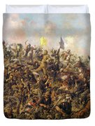 Custer's Last Stand From The Battle Of Little Bighorn Duvet Cover