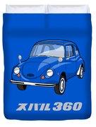 Custom Color Subaru 360 Duvet Cover