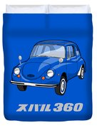 Custom Color Subaru 360 Duvet Cover