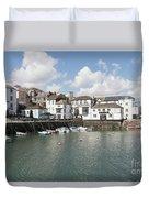 Custom House Quay And Falmouth Parish Church Duvet Cover