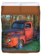 Customized Rust 1949 Ford Pickup Truck Duvet Cover
