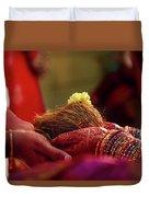 Customs Of The Kannada Wedding Duvet Cover