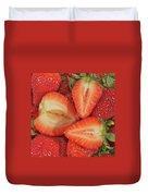 Cut Strawberries Duvet Cover