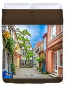 Cute And Colorful European Houses Duvet Cover