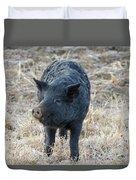 Cute Black Pig Duvet Cover