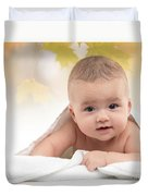 Cute Four Month Old Baby Boy Duvet Cover
