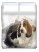 Cute Little Basset Artesien Normand Puppy Duvet Cover