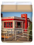 Cute Little Route 66 Diner Duvet Cover