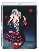 Cute Little Thai Girl Dancing Duvet Cover