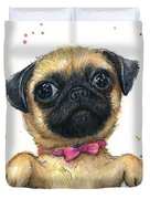 Cute Pug Puppy Duvet Cover
