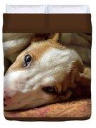 Cute Puppy Cuddles Duvet Cover