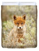Cute Red Fox Kit Duvet Cover
