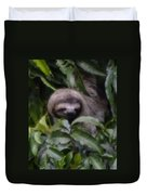 Cute Sloth Face Duvet Cover