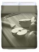 Cutting Apples Duvet Cover